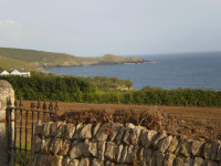 image of the view from little churchway self catering holiday cottage in perranuthnoe