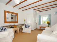 image of the lounge in No 3 St Pirans Cottages holiday let in Perranuthnoe