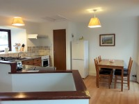 image of the kitchen at Robin Cottage holiday let in Perranuthnoe