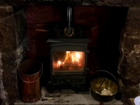 image of the logburner in The Victoria Inn Bed and Breakfast accommodation in Perranuthnoe