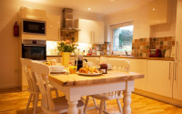 image of the kitchen at Trenow Cottage holiday let in Perranuthnoe