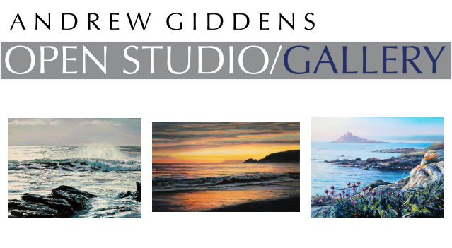 image of Andrew Giddens Open Studio Gallery sign Perranuthnoe